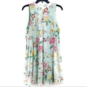 ROBBIE BEE DRESS FLORA MOCK SHIFT STYLE
